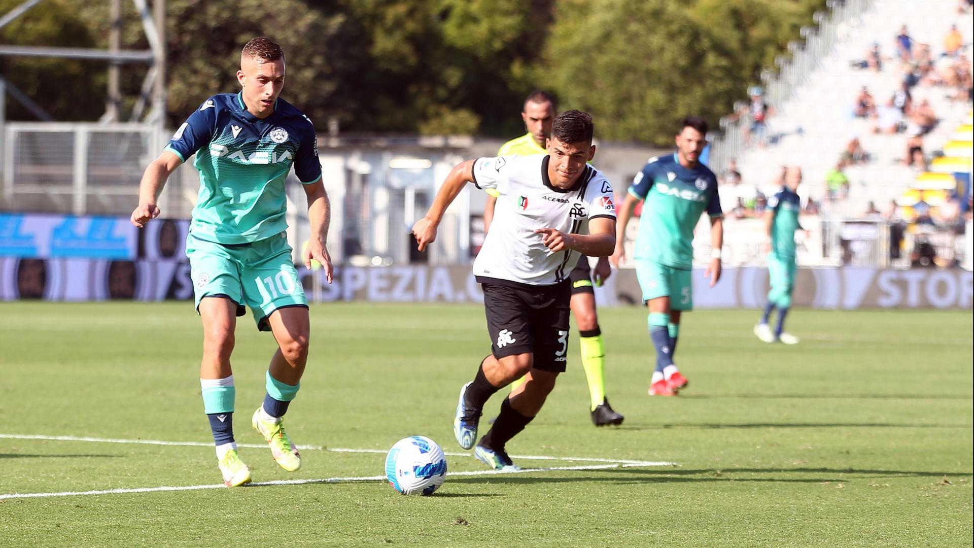Spezia-Udinese 0-1: the highlights